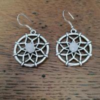Boucles d'oreilles Mandala en Quartz Rose