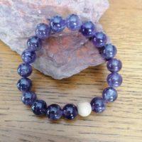 Bracelet en Améthyste – 10 mm
