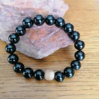 Bracelet en Tourmaline noir – 10 mm