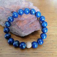 Bracelet en Lapis-Lazuli – 10 mm