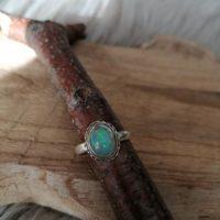 Bague en Opale Véritable – Argent 925 – Taille56
