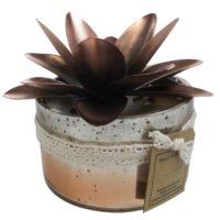 Bougie verre 2 mèches coloris cuivre – Senteur Nag Champa