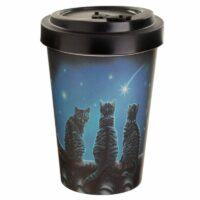 Mug en bambou – Chats sous les étoiles