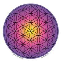 Stickers Fleur de Vie Violette – 12 cm