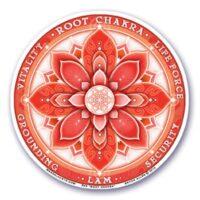 Stickers chakra 1 Racine – 12 cm