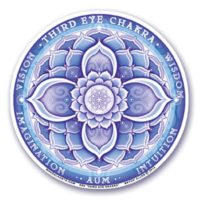 Stickers Chakras 6 Troisième Oeil – 12 cm