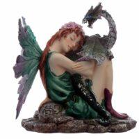 Figurine Fée – Fleur d'Emeraude avec Dragon