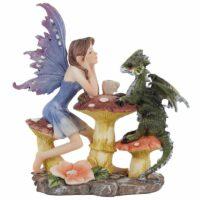 Figurine Fée de la Forêt – Dragon Prenant le Thé
