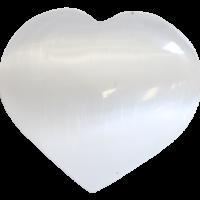 Cœur en Sélénite Blanc