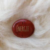 Galet Energie en jaspe rouge