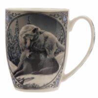 Mug en Porcelaine Tendre- Hiver des Loups