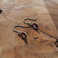 Boucles d'oreilles larme en Améthyste – Argent