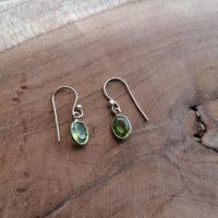 Boucles d'oreilles Larmes en Péridot – Argent