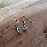 Boucles d'oreilles Larmes en Aigue-Marine – Argent