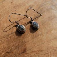 Boucles d'oreilles en Labradorite – Argent