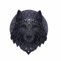 Plaque Murale – Loup de la Lune – 30 cm