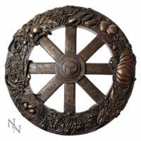 Plaque Murale en Bronze – Roue de l'Année – 25 cm