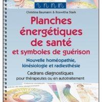 Planches énergétiques de santé et symboles de guérison