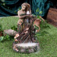 Brûleur d'encens à refoulement – Dame Nature 23,5 cm