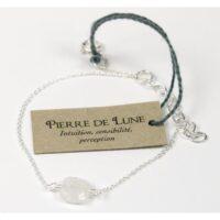 Bracelet coussin de Pierre de Lune 7 mm – Argent 925